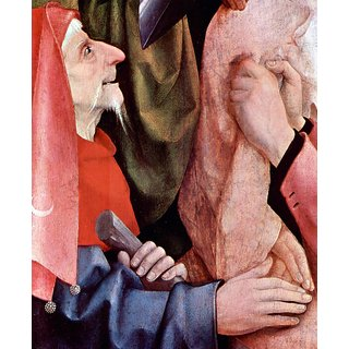 The Museum Outlet - The cross for Christ, detail 3 by Bosch - Poster Print Online Buy (24 X 32 Inch)