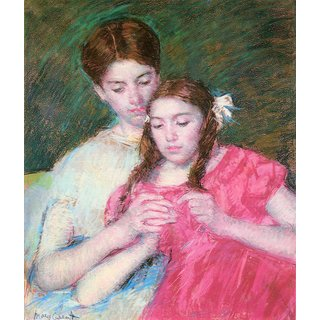 The Museum Outlet - Woman and girl by Cassatt - Poster Print Online Buy (24 X 32 Inch)