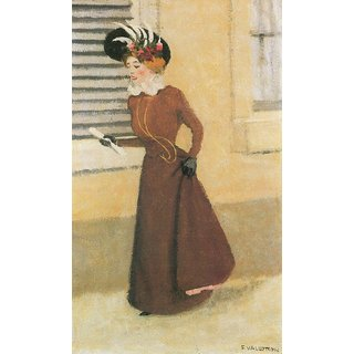 The Museum Outlet - Woman with hat by Felix Vallotton - Poster Print Online Buy (24 X 32 Inch)