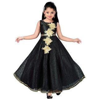 6443e0b1a Buy Aarika Girls Self Design Flower Net Fabric Party Wear Ball Gown ...