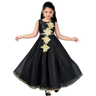 dba36e98b02 Buy Aarika Girls Self Design Flower Net Fabric Party Wear Ball Gown Online    ₹2999 from ShopClues