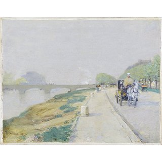The Museum Outlet - Banks of the Seine, 1888 - Poster Print Online Buy (24 X 32 Inch)