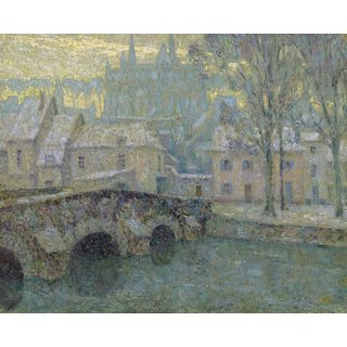 The Museum Outlet - Chartres in Snow, 1918 - Poster Print Online Buy (24 X 32 Inch)