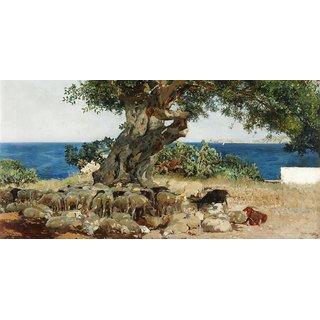 The Museum Outlet - Joaquin Sorolla y Bastida - Algarrobo - Poster Print Online Buy (24 X 32 Inch)