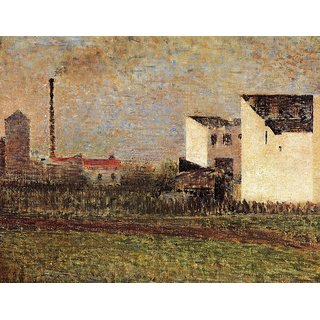 The Museum Outlet - Suburb, 1882 - Poster Print Online Buy (24 X 32 Inch)
