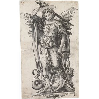 The Museum Outlet - The Archangel Michael Weighing Souls. c.1523 - Poster Print Online Buy (24 X 32 Inch)