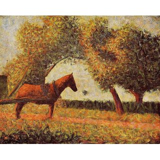 The Museum Outlet - The Harnessed Horse 1884 - Poster Print Online Buy (24 X 32 Inch)
