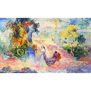 The Museum Outlet - Woman in a Park, 1909 - Poster Print Online Buy (24 X 32 Inch)