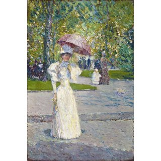 The Museum Outlet - Woman with a Parasol in a Park, 1891 - Poster Print Online Buy (24 X 32 Inch)