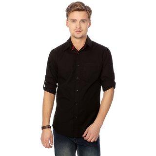 Men's Cotton Casual Shirt Black