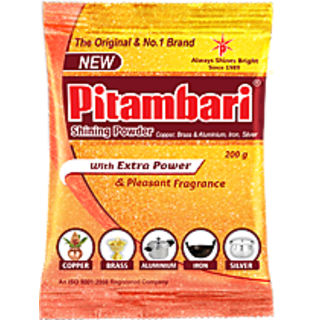 only 4 you Pitambari Shining Powder With Extra Power  Pleasant Fragrance With Pure Brass Pooja Diya/Deepak