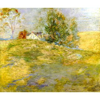 The Museum Outlet - Artist's Home in Autumn, Greenwich, Connecticut, 1895 - Poster Print Online Buy (24 X 32 Inch)