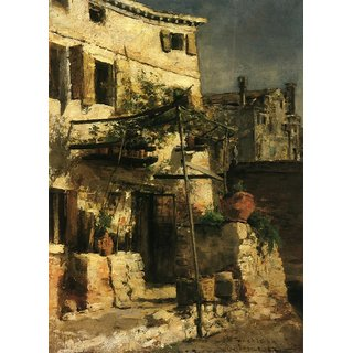 The Museum Outlet - House on a Canal, Venice, 1877 - Poster Print Online Buy (24 X 32 Inch)