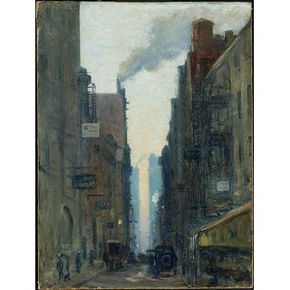 The Museum Outlet - New York Street Scene, 1910 - Poster Print Online Buy (24 X 32 Inch)