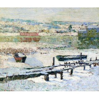 The Museum Outlet - River in Winter, 1907 - Poster Print Online Buy (24 X 32 Inch)