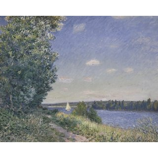 The Museum Outlet - Sahurs, Path near the Water, 1894 - Poster Print Online Buy (24 X 32 Inch)