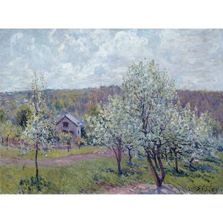 The Museum Outlet - Spring in the Environs of Paris, Apple Blossom, 1879 - Poster Print Online Buy (24 X 32 Inch)