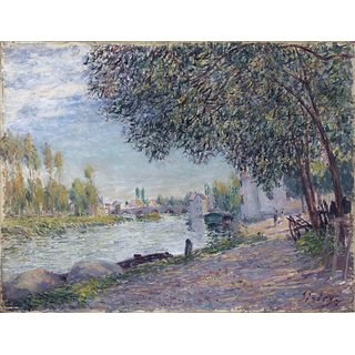 The Museum Outlet - The Bridge of Moret, Evening, 1884 - Poster Print Online Buy (24 X 32 Inch)