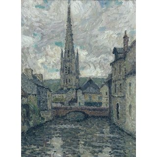 The Museum Outlet - The Church, Honfleur, 1914 - Poster Print Online Buy (24 X 32 Inch)