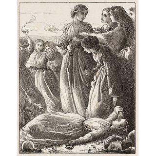 The Museum Outlet - The Wise Virgins, published1864 - Poster Print Online Buy (24 X 32 Inch)