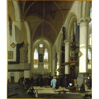 The Museum Outlet - Interior of the Oude Kerk in Amsterdam (3) - Poster Print Online Buy (24 X 32 Inch)