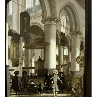 The Museum Outlet - Interior of the Oude Kerk in Delft, c. 1680 - Poster Print Online Buy (24 X 32 Inch)