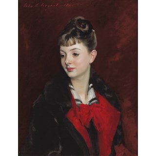 The Museum Outlet - John Singer Sargent - Mademoiselle Suzanne Poirson (1884) - Poster Print Online Buy (24 X 32 Inch)