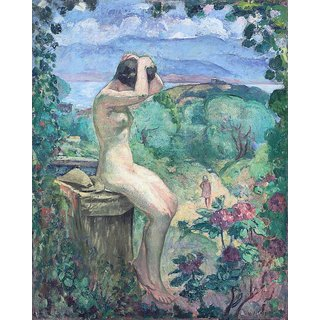 The Museum Outlet - Nude by the Fountain, 1911 - Poster Print Online Buy (24 X 32 Inch)