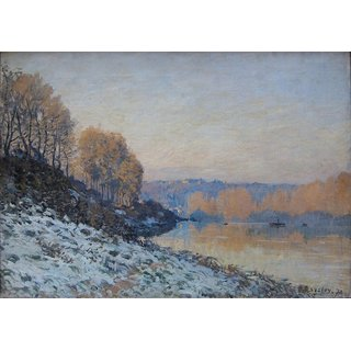 The Museum Outlet - The Seine at Bougival in Winter, 1872 - Poster Print Online Buy (24 X 32 Inch)