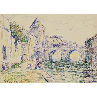 The Museum Outlet - View of Moret-sur-Loing - Poster Print Online Buy (24 X 32 Inch)
