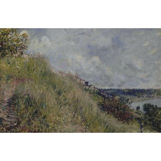 The Museum Outlet - View of the Seine Slopes of By (Seine at Marne) - Poster Print Online Buy (24 X 32 Inch)