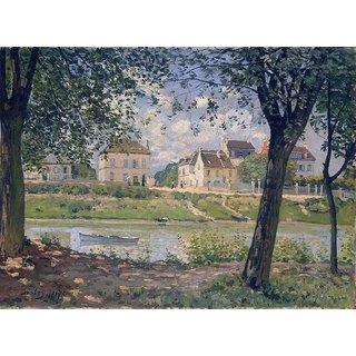 The Museum Outlet - Villeneuve-la-Garenne, 1872 - Poster Print Online Buy (24 X 32 Inch)