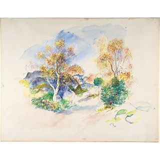 The Museum Outlet - Landscape with Trees, 1886 - Poster Print Online Buy (30 X 40 Inch)