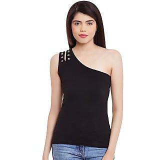 16b9d31dd99433 Buy Hypernation Black Off Shoulder Cotton Top Online   ₹559 from ...
