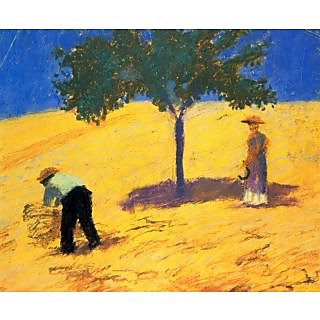 The Museum Outlet - Tree in Cornfeld by Macke - Poster Print Online Buy (24 X 32 Inch)