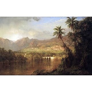 The Museum Outlet - Tropical Scene by Frederick Edwin Church - Poster Print Online Buy (24 X 32 Inch)