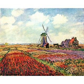 The Museum Outlet - Tulips of Holland by Monet - Poster Print Online Buy (24 X 32 Inch)