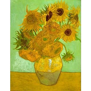 The Museum Outlet - Twelve Sunflowers - Poster Print Online Buy (24 X 32 Inch)