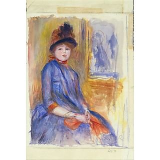 The Museum Outlet - Young Girl in a Blue Dress, 1890 - Poster Print Online Buy (30 X 40 Inch)