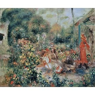 The Museum Outlet - Young Girls in the Garden, 1893-95 - Poster Print Online Buy (30 X 40 Inch)