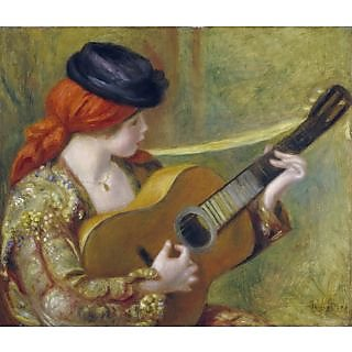 The Museum Outlet - Young Spanish Woman with a Guitar, 1898  - Poster Print Online Buy (30 X 40 Inch)