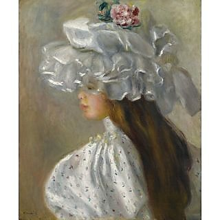 The Museum Outlet - Young Woman in White Head, 1892 - Poster Print Online Buy (30 X 40 Inch)