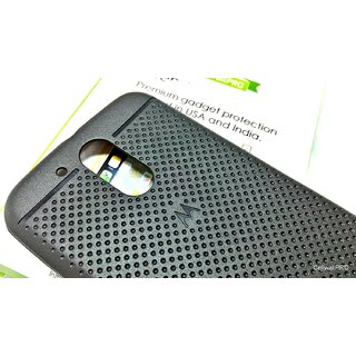 Moto G4 Plus 4th Gen Premium exclusive dotted soft case cover with CellwallPRO brand tempered/toughened glass