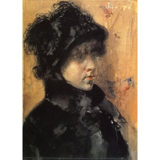 The Museum Outlet - A Portrait Study, 1880 - Poster Print Online Buy (30 X 40 Inch)