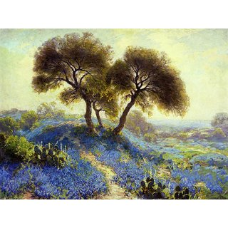 The Museum Outlet - A Spring Morning, Bluebonnets, San Antonio, 1913 - Poster Print Online Buy (30 X 40 Inch)