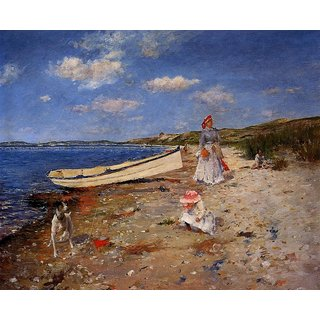 The Museum Outlet - A Sunny Day at Shinnecock Bay, 1892 - Poster Print Online Buy (30 X 40 Inch)