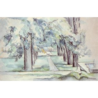The Museum Outlet - The Pool and Lane of Chestnut Trees at Jas de Bouffan, 1878-80 - Poster Print Online Buy (30 X 40 Inch)
