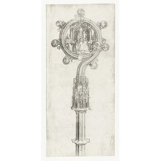 The Museum Outlet - Bishop Wand with enthroned Virgin and Child. 1475-1480 - Poster Print Online Buy (30 X 40 Inch)