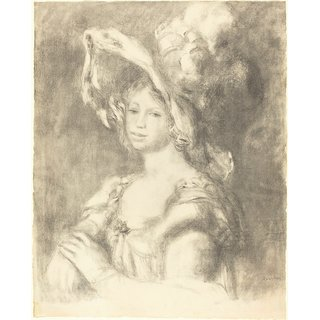 The Museum Outlet - Bust of a Young Woman, 1892 - Poster Print Online Buy (30 X 40 Inch)