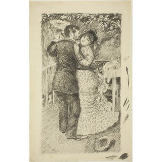 The Museum Outlet - Dance in the Country, 1883 - Poster Print Online Buy (30 X 40 Inch)